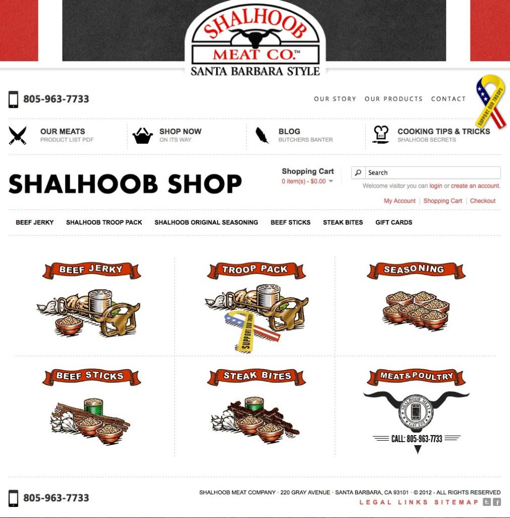 Shalhoob Meat Co. Mobile Website and eCommerce Shop